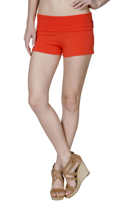 Active Basic Dance or Yoga Fold Down Hot Shorts Lots of Colors!