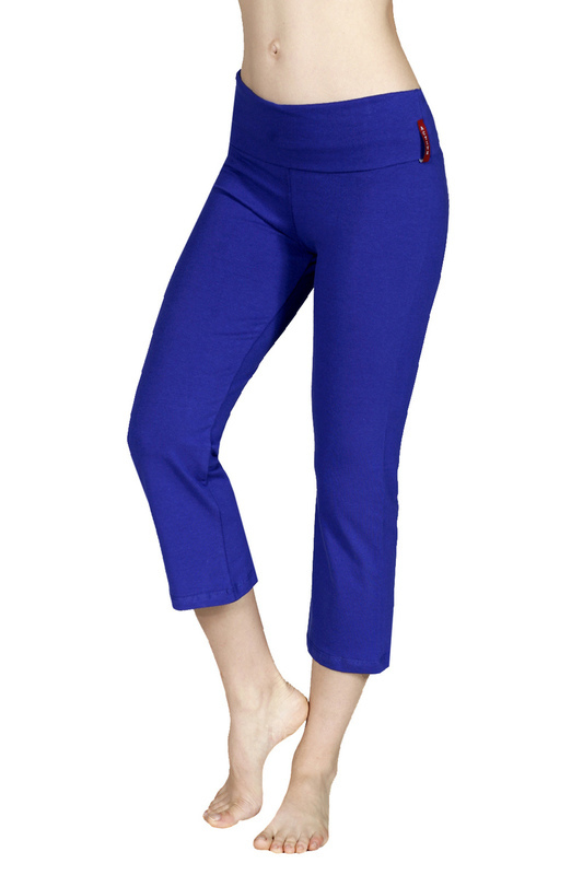 Fold Over Waist Yoga Pants Capri - Yoga
