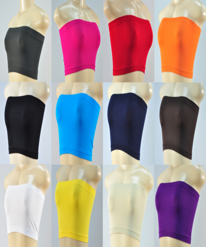 Tube Tops - 12 Colors
