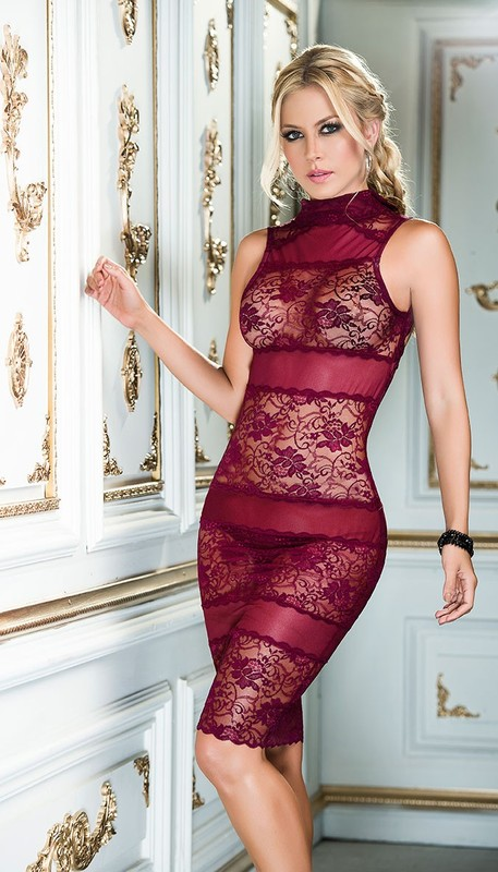 Burgundy Babydoll Dress