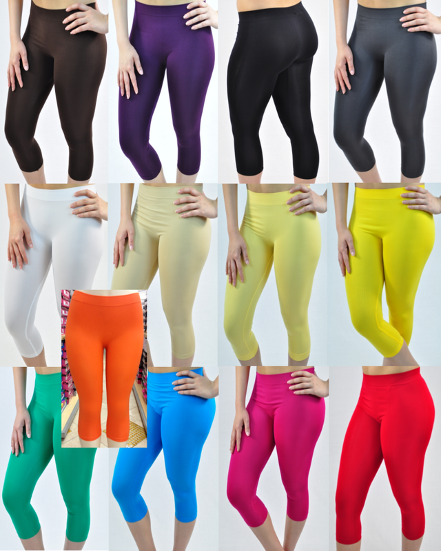 Capri Colored Leggings - Yoga