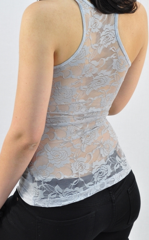 8a6238caaa9748 Full Lace Back Tank Tops - Yoga